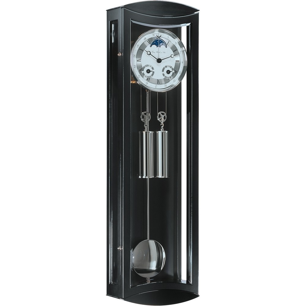 Hermle clocks german wall and mantel clocks clockshops hermle mornington cable driven mechanical regulator wall clock black 70650 740058 amipublicfo Images