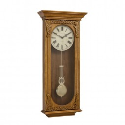 Hermle Timbrerlake Wall Clock with Swinging Pendulum and Westminster Chime 70732-I92214