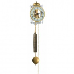 Hermle Stuttgart  Mechanical Skeleton Wall Clock - White & Gold 70733-000711