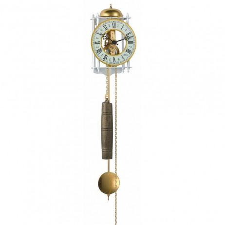 Hermle Stuttgart  Mechanical Skeleton Wall Clock - White & Gold 70733-000711