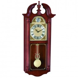 Hermle Ferrum Chiming Wall Clock with Swinging Pendulum and Westminster Chime 70809-N92214