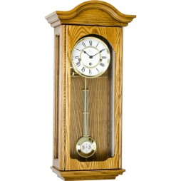 Hermle Brooke Mechanical Regulator Wall Clock - Oak Finish 70815-I90341