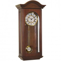 Hermle Brooke Mechanical Regulator Wall Clock - Cherry Finish 70815-N90341