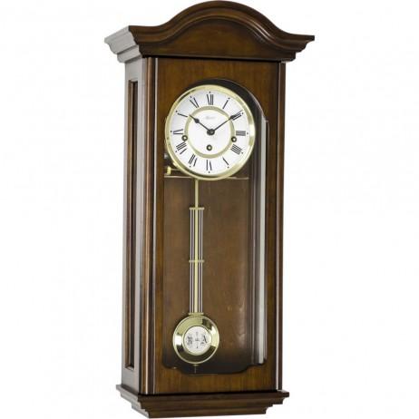 Hermle Brooke Mechanical Regulator Wall Clock - Antique Walnut Finish 70815-Q10341