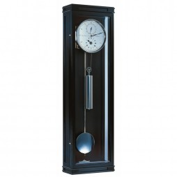 Hermle Greenwich Mechanical Weight-driven Regulator Wall Clock  - Black 70875-740761