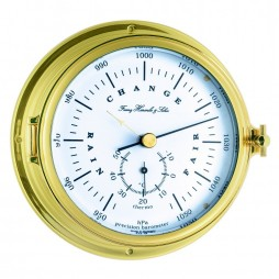 Annapolis Solid Brass Case Ships Barometer and Thermometer 90009-000040