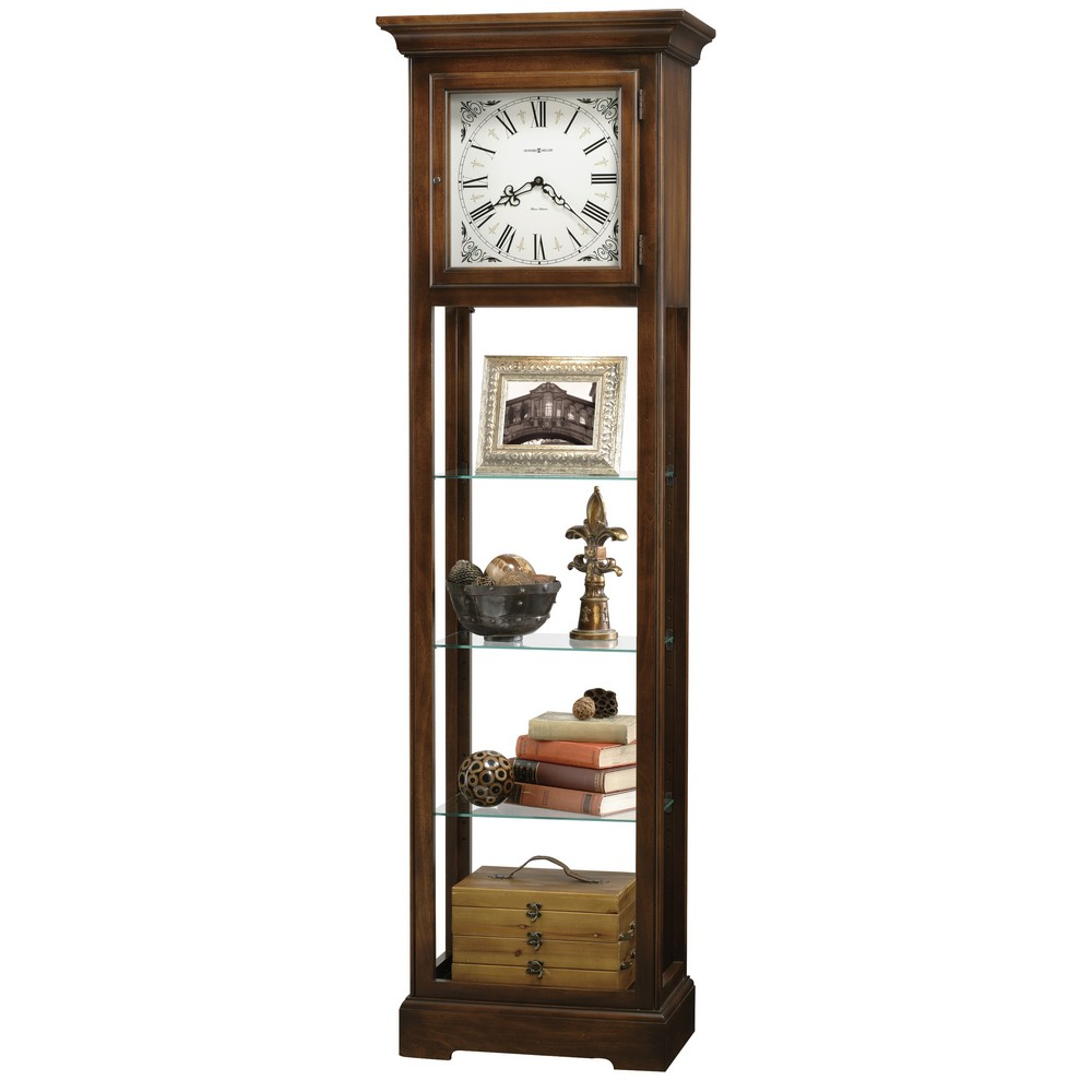 Howard Miller Le Rose Floor Clock Display Cabinet 611148