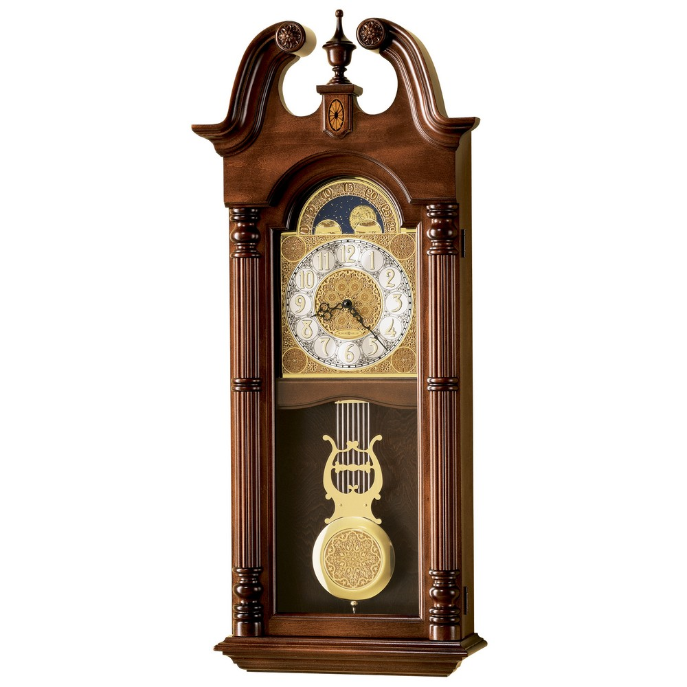 Howard miller maxwell dual chime wall clock 620226 for Dual time wall clock