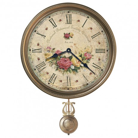 Decorative Wall Clock Howard Miller Savannah Botanical VI 620440
