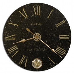 Black Wall Clock Howard Miller London Night 620-474