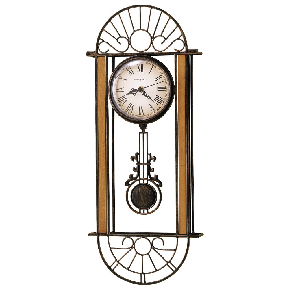 wrought iron wall clock howard miller devahn 625 241