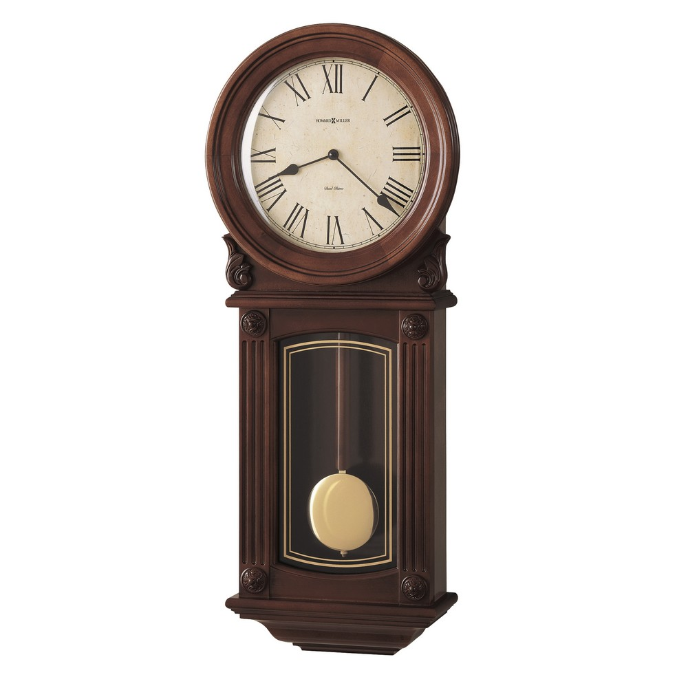 Howard miller isabel dual chime wall clock 625290 for Dual time wall clock