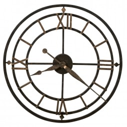 "Howard Miller York Station 21"" Wrought Iron Wall Clock 625-299"