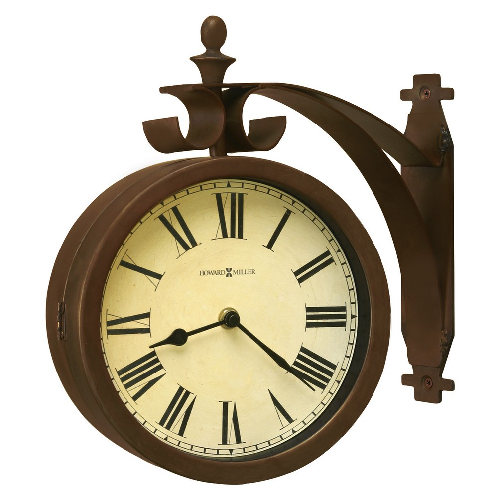 Howard Miller O Brien Two Sided Station Wall Clock
