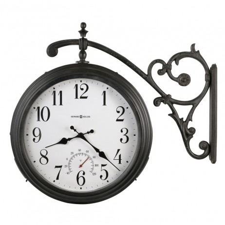Howard Miller Luis Double Sided Indoor/Outdoor Hanging Wall Clock 625-358