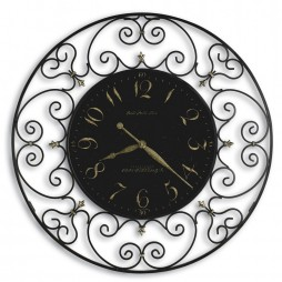 "Howard Miller Joline 36"" Wrought Iron Wall Clock 625-367"