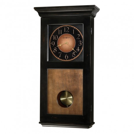 Howard Miller Corbin Black And Brown Chime Wall Clock 625-383