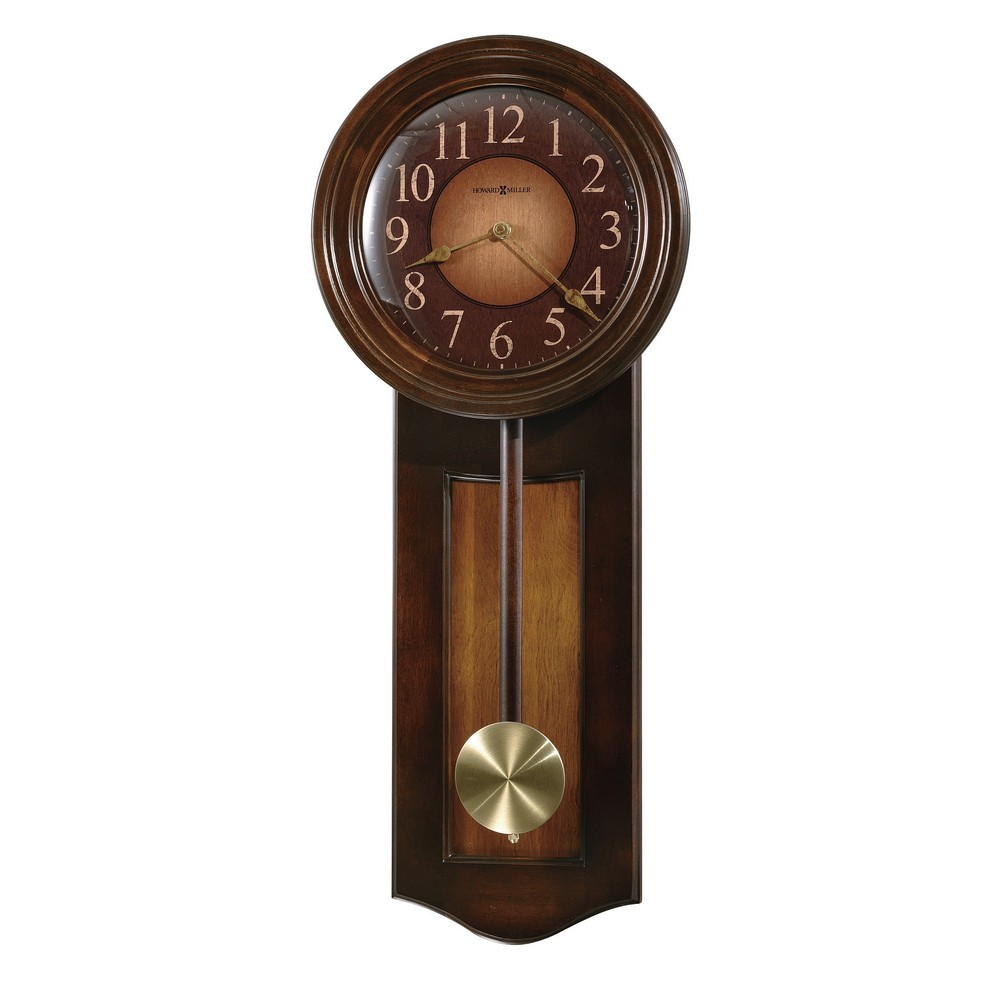 Pendulum wall clock howard miller avery 625 385 for Dual time wall clock