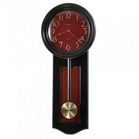 Pendulum Wall Clock - Howard Miller Alexi Two-Tone Black And Red 625-390