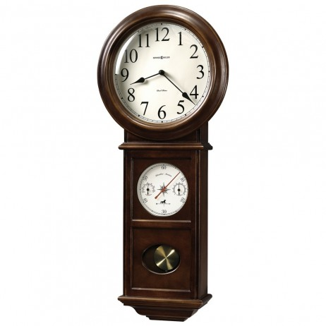 Howard Miller Crowley Wall Clock with Pendulum and Westminster or Beethoven Chimes 625-399