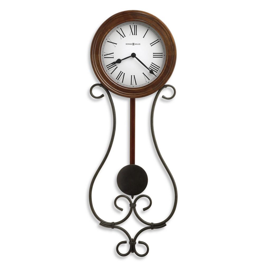 Wrought iron wall clock howard miller yvonne 625 400 for Wrought iron wall clock