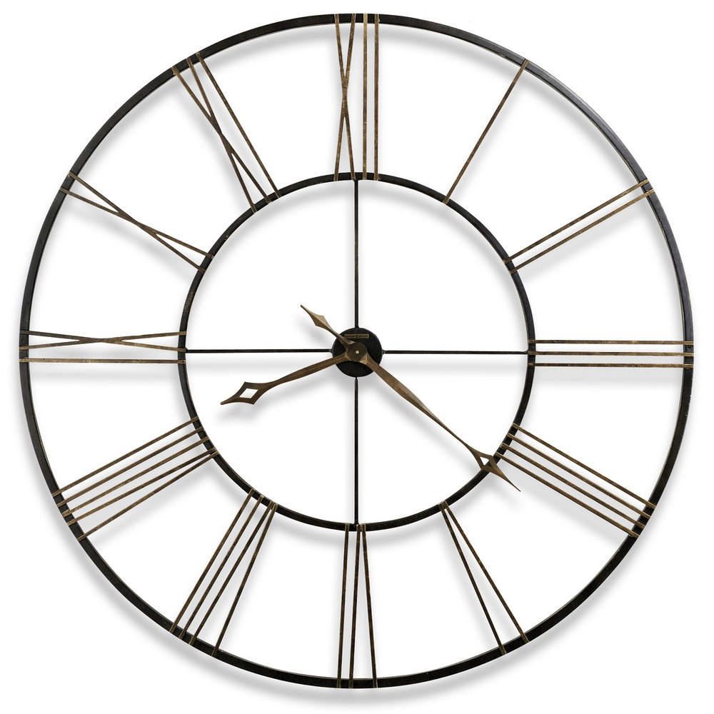 Wrought iron metal howard miller postema 49 wrought iron wall clock 625 406 amipublicfo Images