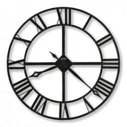 "Howard Miller Lacy 14"" Wrought Iron Wall Clock 625-423"