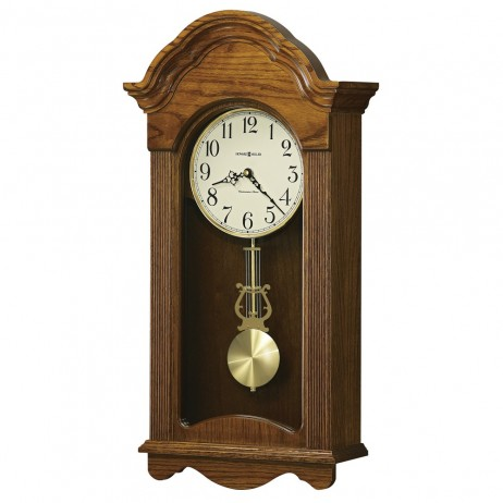 Howard Miller Jayla Oak Wall Clock with Westminster Chime 625-467