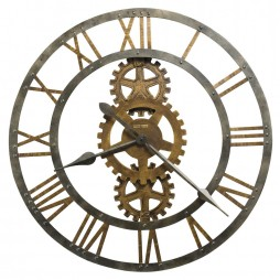 Howard Miller Crosby Large Metal Gear Wall Clock 625-517