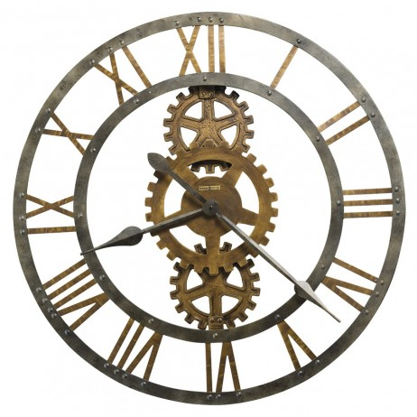 Howard Miller Crosby Large Metal Gear Wall Clock 625-517