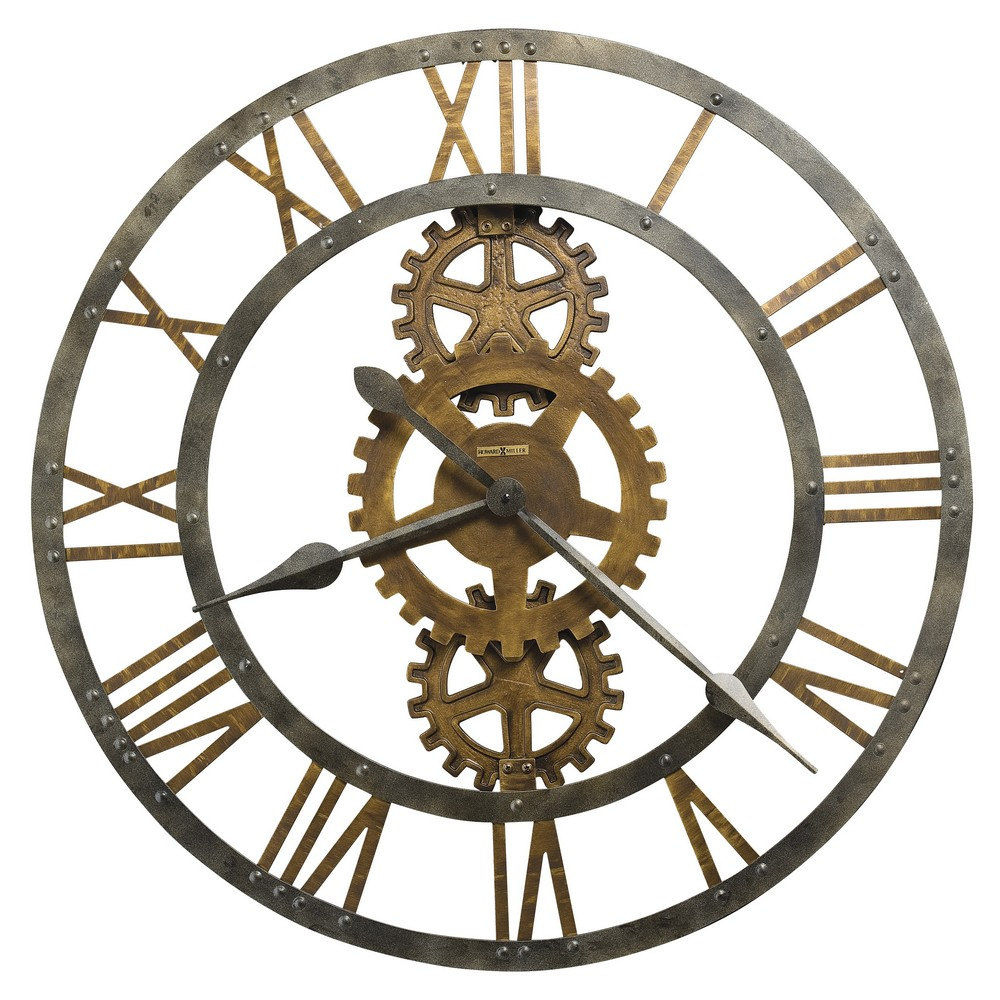 Howard miller crosby large metal gear wall clock 625517 amipublicfo Gallery
