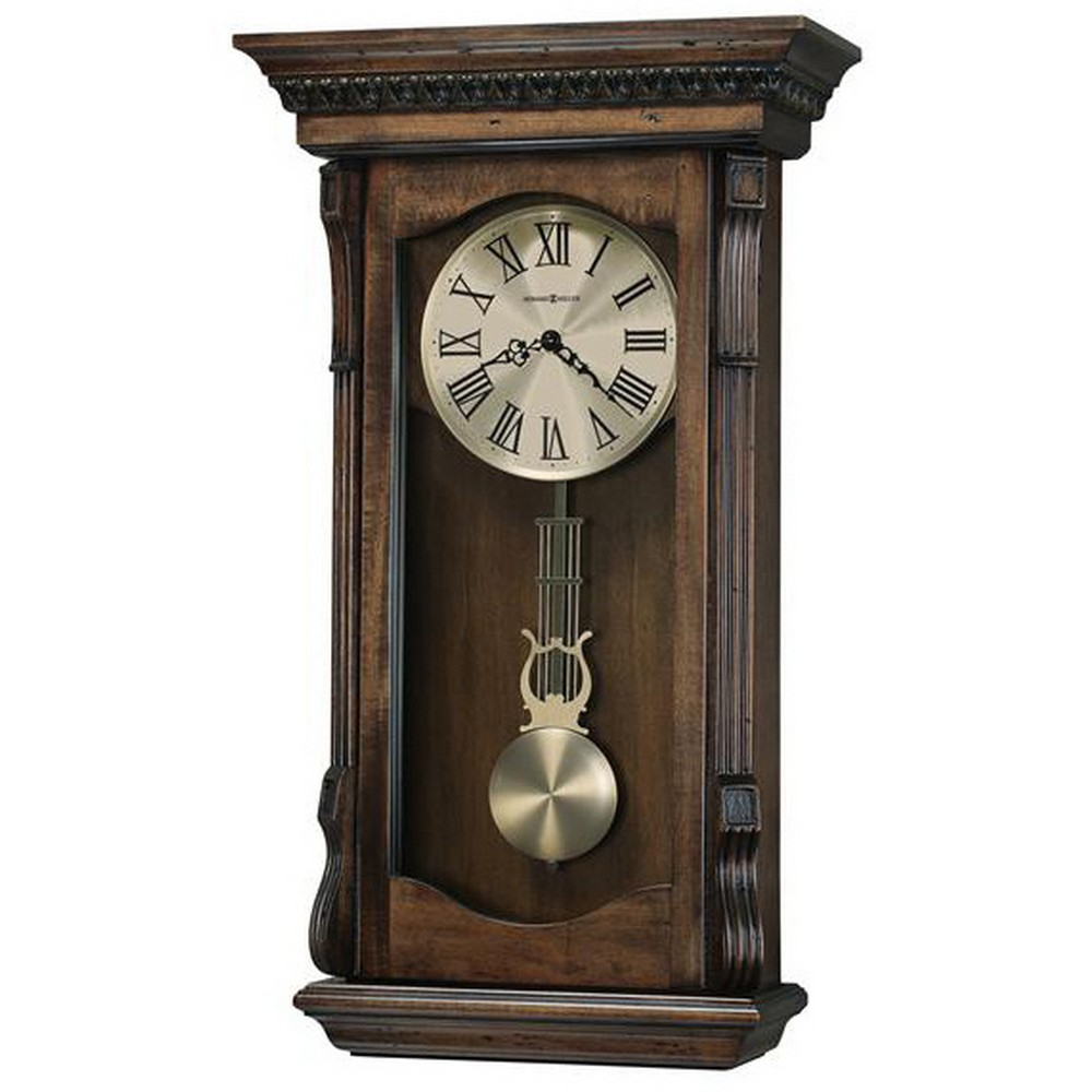 Howard Miller Agatha Triple Chime Pendulum Wall Clock 625578