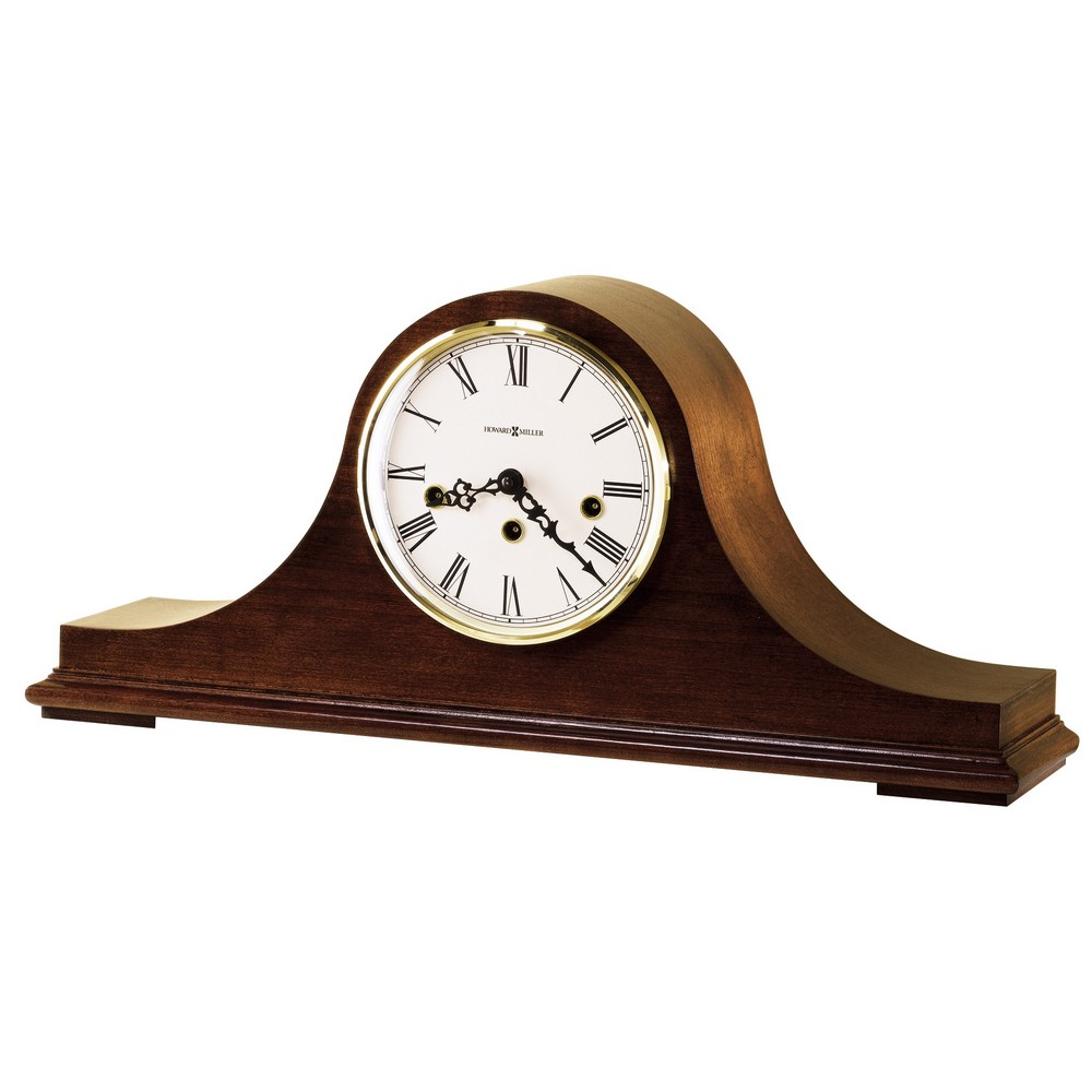Howard Miller Mason Tambour Style Key Wound Mantel Clock