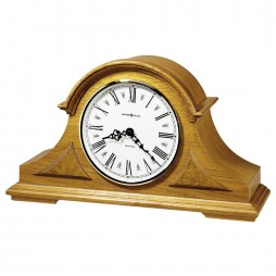 Howard Miller Burton Oak Tambour Mantel Clock 635-106