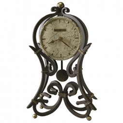 Howard Miller Vercelli Wrought Iron Mantel Clock 635-141
