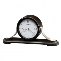 Howard Miller Callahan Contemporary Wood and Metal Mantel Clock  with Quartz