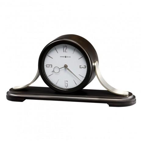Howard Miller Callahan Contemporary Wood and Metal Mantel Clock  with Quartz