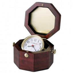 Howard Miller Chronometer Quartz Alarm Clock - Nautical Decor 645-187