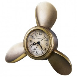 Howard Miller Propeller Alarm Clock - Nautical Room Decor 645-525
