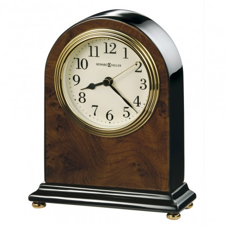Howard Miller Bedford Table Clock with Walnut Piano Finish 645-576