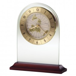 Howard Miller World Time Arch Table Clock 645603 645-603