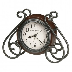 Howard Miller Diane Metal And Wood Alarm Clock 645-636