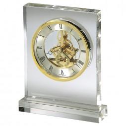 Howard Miller Prestige Glass Crystal Table Clock With Skeleton Movement 645-682