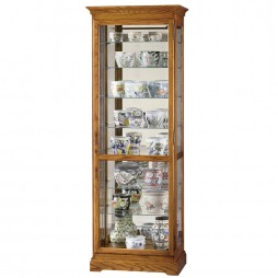 Howard Miller Chesterfield II Oak Display Cabinet 680-288