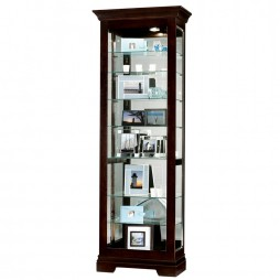 Howard Miller Saloman Black Coffee Display Cabinet 680-412