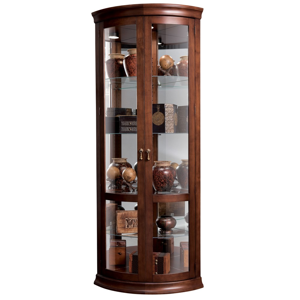 Howard Miller Chancellor Curio Cabinet 680503 Rh Clockshops Com Glass Corner  Curio Cabinet Corner Curio Cabinet