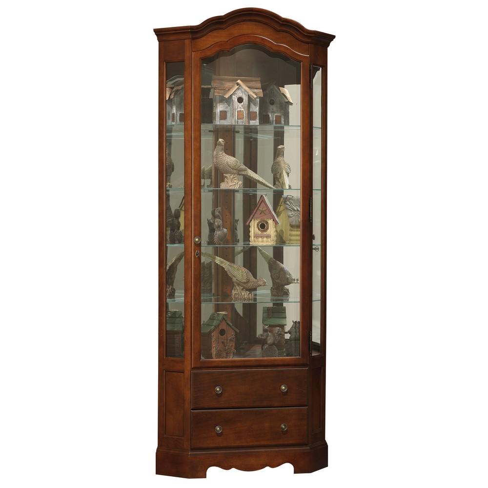 Howard miller phoebe corner curio display cabinet 680525 for Curio cabinet