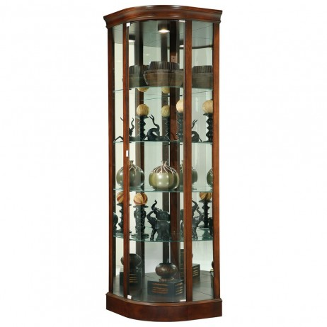 Howard Miller Marlowe Corner Curio Display Cabinet 680529 680-529