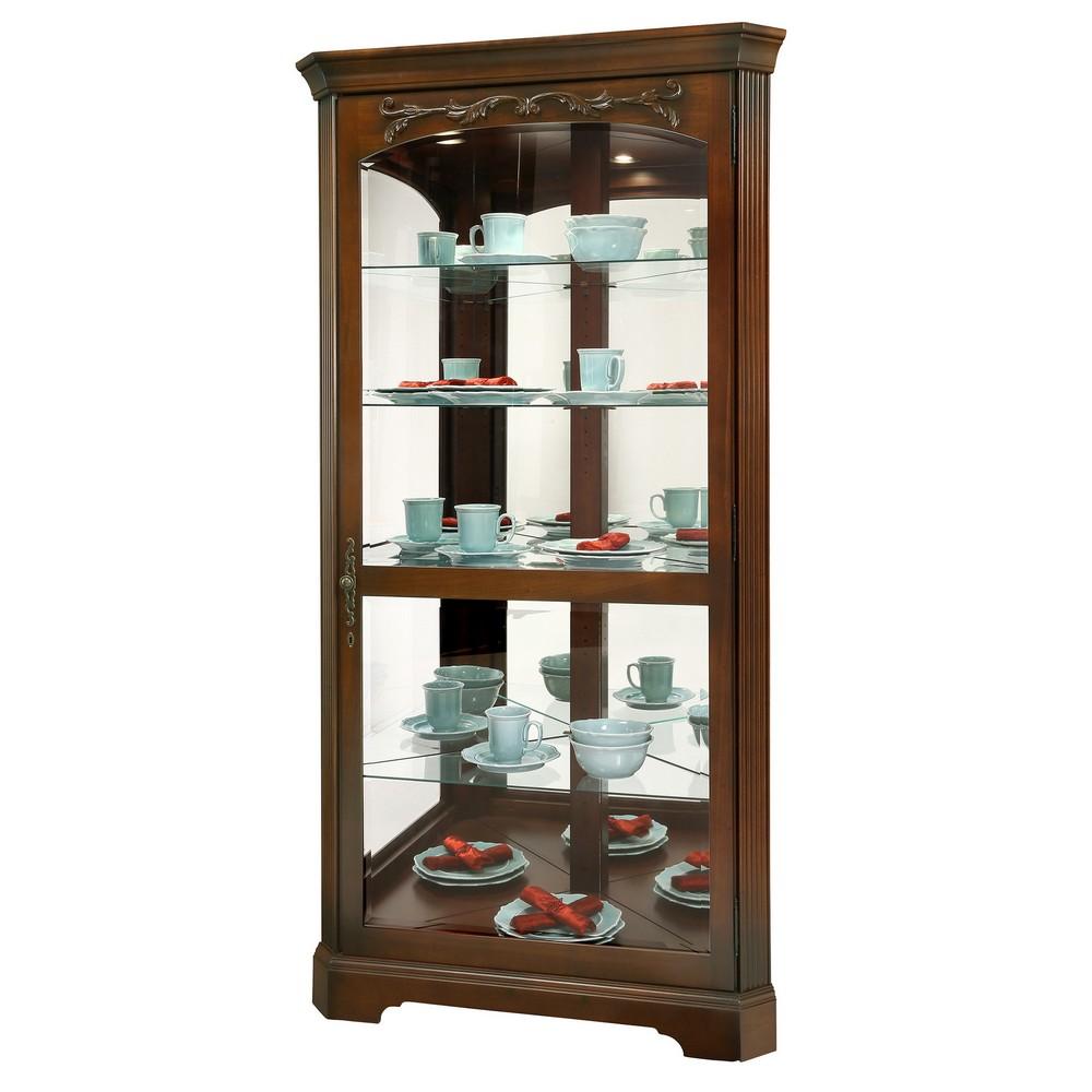 Howard miller tessa corner curio display cabinet 680605 for Curio cabinet
