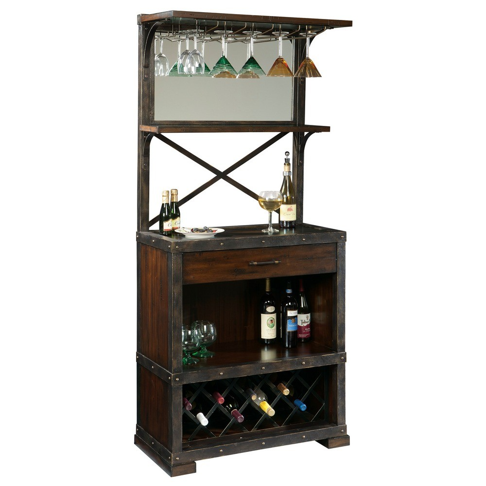 Howard miller red mountain home bar and wine cabinet 695138 Home wine bar furniture